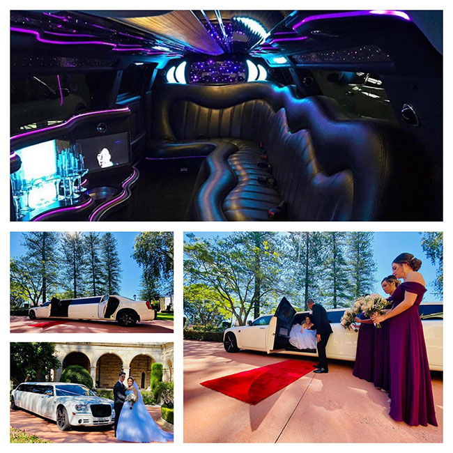 Chrysler 300C Super Stretch Limousine - Black Edition With An Extended 5th Bridal Door