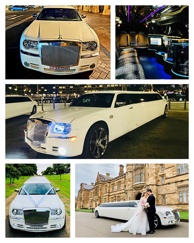 Chrysler 300C Super Stretch Limousine - With An Extended 5th Bridal Door